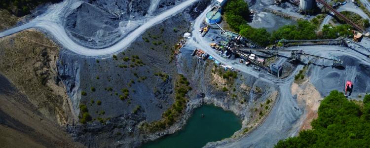 作業現場の航空写真